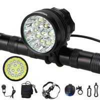 50000 Lm 100 000 Hours 3 Modes Headlight Bicycle Lamp Handlebar Cycling Torch 15x XML T6