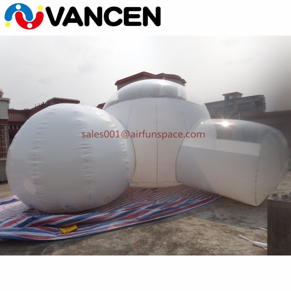 High quality inflatable lawn tent with double rooms family camping inflatable games bubble tent for sale personal activity inflatable mobile pub tent for family party use