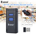 EYOYO MJ-2877 Mini Barcode Scanner 1D 2.4G Wireless Bar Code Scanner For Android IOS Windows Bluetooth Scanner