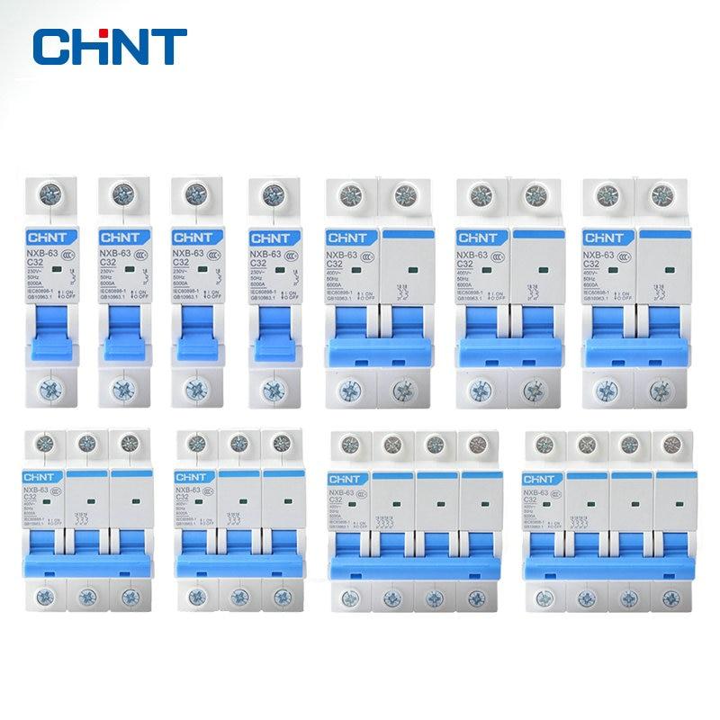 Мини выключатель CHINT DZ47 1p 2p 3p 4p 1A 63A, домашний MCB с индикацией|Автоматические выключатели|   | АлиЭкспресс