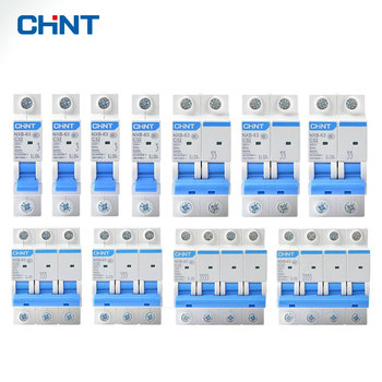CHINT Mini Circuit Breaker NXB-63 DZ47 1p 2p 3p 4p 1A - 63A House MCB with Indication dz47le 63 2p electric leakage mini circuit breaker power air switch household protect c45n safety mcb