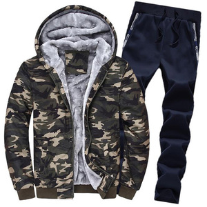 Image 4 - Large Size M 5XL Winter Tracksuits Men Set Plus Velvet Sporting Suit Warm Thickened Sportswear Sweatsuit Two Piece Outfit sets