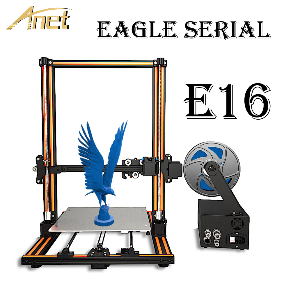 Nouvelle série aigle Anet E10 E12 E16 imprimante 3D cadre en aluminium haute précision bureau imprimante 3D Kits grande taille cadeau de noël