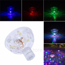 Fding Glowing LED Underwater Fountain Waterproof Disco Party Float Spa  Bathtub RGB
