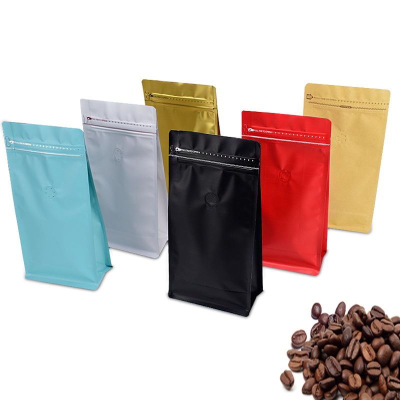 1 lb Cookie Casual candy food coffee 500 g Bag storage packing foil Eight side valve standing Wide Bottom Self sealing zipper in Storage Bags from Home Garden