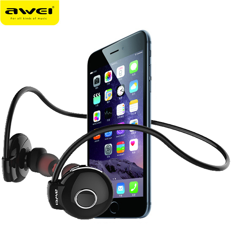 Awei A845BL Bluetooth Headphones Wireless Earphone For Phone fone de ouvido Neckband Sport Headset Auriculares Kulakl k showkoo stereo headset bluetooth wireless headphones with microphone fone de ouvido sport earphone for women girls auriculares