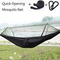 Одиночный автоматический быстро открывающийся москитная сетка гамак кемпинг 210T нейлон спиннинг подвесной стул 250*120 см досуг качели кроват...