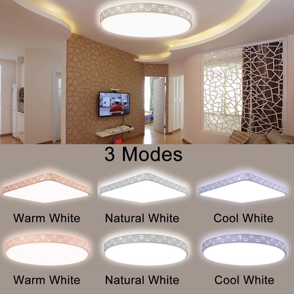 Us 38 35 new 80w led dimmable ceiling light flush mount fixture lamp kitchen modern for living room bedroom study room dining room in ceiling lights