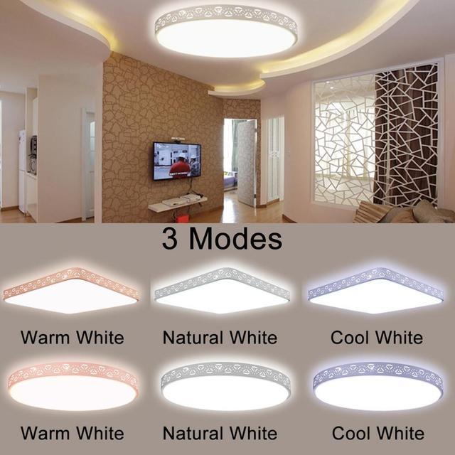 New W LED Dimmable Ceiling Light Flush Mount Fixture Lamp Kitchen - Dimmable led kitchen ceiling lights