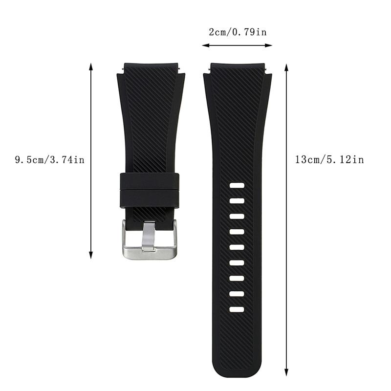 Shpërndarje falas Rrip shiritash byzylyk silikoni për Samsung Gear - Aksesorë për orë - Foto 3