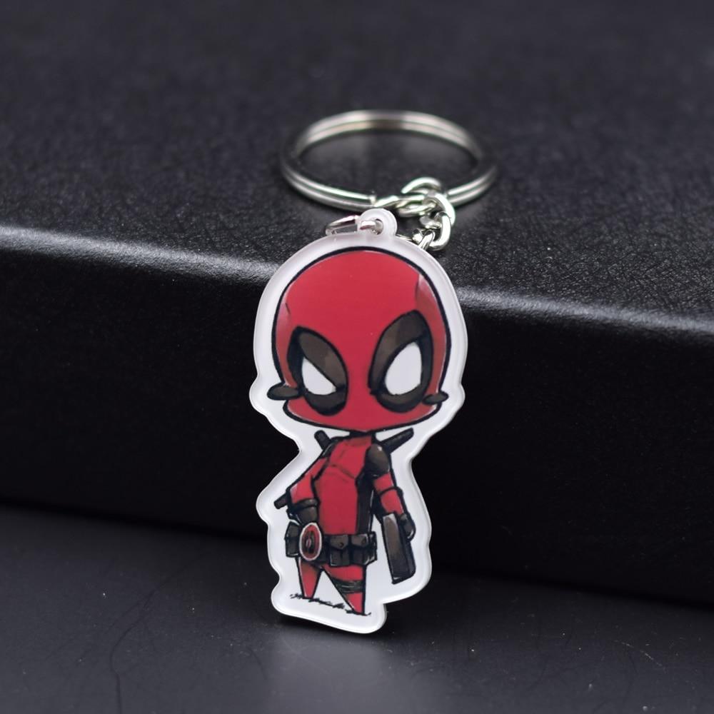 Deadpool Ant Man Keychain 8 Styles Fashion font b Jewelry b font Key Chains The Hulk