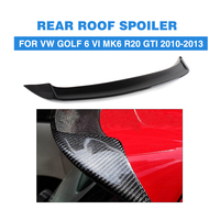 Rear Roof Spoiler Carbon Fiber O Style Wing Lip Fit For VW Golf 6 VI MK6