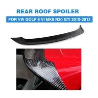 Koolstofvezel Auto Dakspoiler Boot Lip Vleugels Voor Volkswagen VW Golf 6 VI MK6 R20 GTI 2010-2013 O stijl