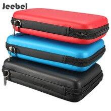 Jeebel capa nintendo 3ds xl, estojo protetor, bolsa de transporte dura, impermeável nintendo novo 3ds xl