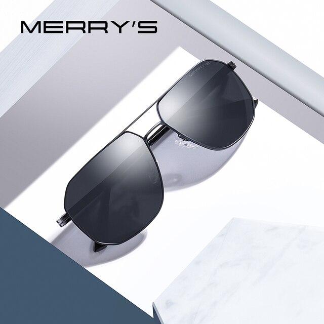 Merrys дизайн Для мужчин солнцезащитные очки Классические солнцезащитные очки HD поляризованные солнцезащитные очки для мужчин для вождения, мужские очки, солнцезащитные очки UV400 защиты S8306