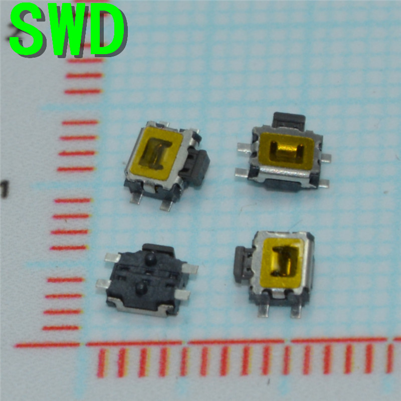 3*4mm Micro Switch smd 4pin New Switch Button Key for Mobile Phone3X4 machine  #DSC0039 50pcs lot 6x6x7mm 4pin g92 tactile tact push button micro switch direct self reset dip top copper free shipping russia
