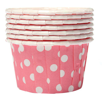 100X Cupcake Wrapper Paper Cake Case Baking Cups Liner Muffin Pink Cake Molds