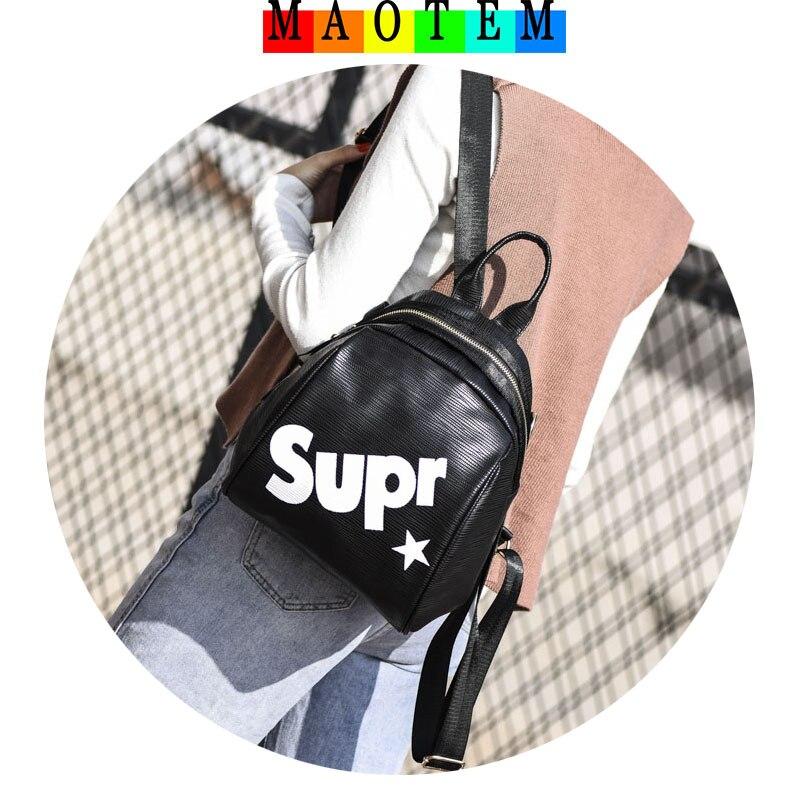 Maotem заводская цена! новая мода Дорожная сумка для 2017 Зима Для женщин Письмо маленький рюкзак, женственная стильная милый рюкзак для Обувь дл...