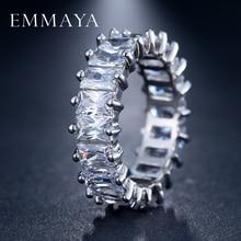 EMMAYA Silver Color Unique Design CZ Ring Paved Austrian Zircon Fashion Women Ring Jewelry