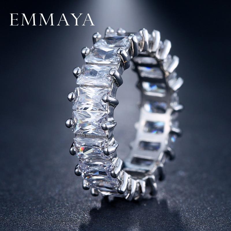 EMMAYA Silver Color Unique Design CZ Ring