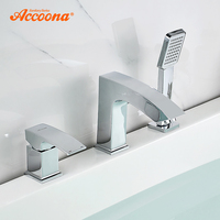 Accoona Bathtub Faucet Separate Body Single Holder Dual Control Waterfall Faucet Bath Tub Mixer Deck Mounted Tub Faucet A6590