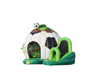Free blower inflatable bouncer castle with slide outdoor fun bouncer sports