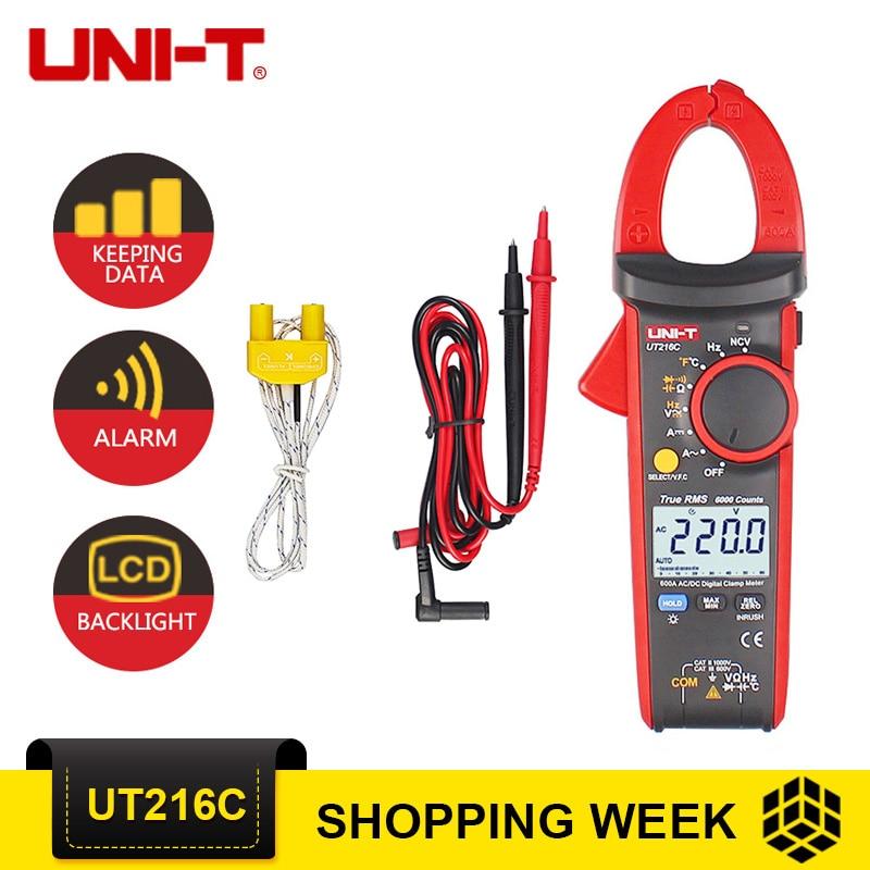 UNI-T UT216C мультиметры 600A True RMS цифровой зажим метров Авто Диапазон w/частота емкость Температура НТС тестер