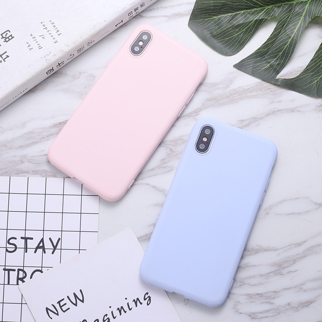 Phone Case For Samsung Galaxy J3 J5 J6 2016 A3 A5 A7 2017 A50 A30 70 A7 2018 A51 A71 A10 S Soft TPU Case Candy Color Back Cover