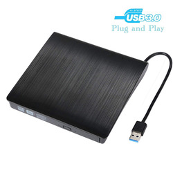 USB 3.0 Externo DVD Drive usb Ultra-Fino CD/DVD-RW DVD/CD Rom Queimador Rewriter Gravador de Alta Velocidade a Transferência de dados para Desktops Laptop