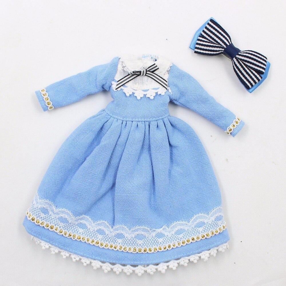 Neo Blythe Doll Blue Dress With Headdress 4