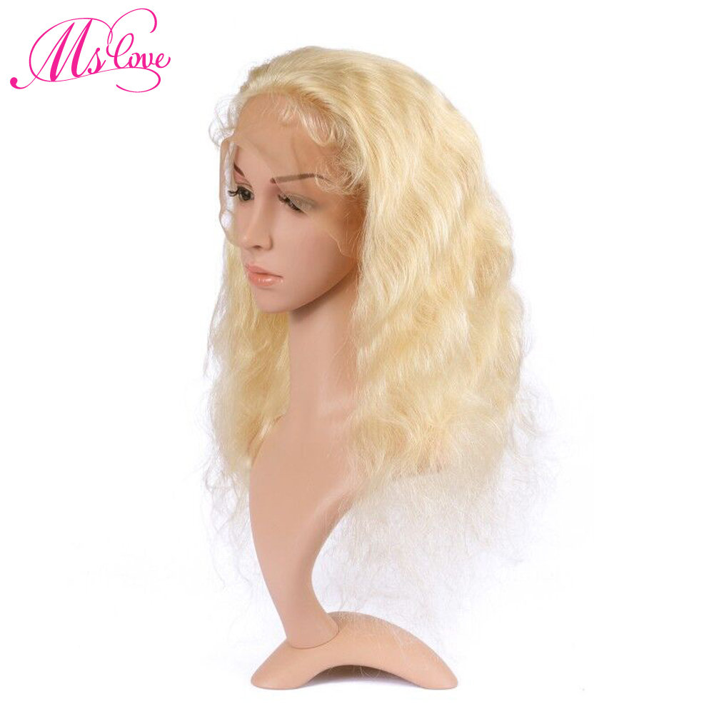Ms Love Lace Front And Full Lace Wig 613 Blonde Human Hair Wig Body Wave 130% Density Brazilian Wig For Women TTransparent Lace