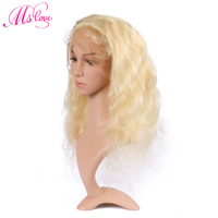Ms Love Lace Front And Full Lace Wig 613 Blonde Human Hair Wig Body Wave 130% Density Brazilian Wig For Women Transparent Lace