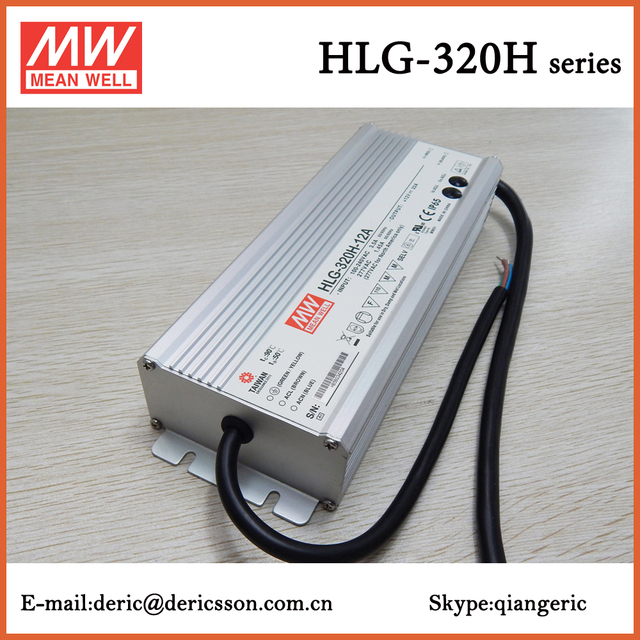 MEAN WELL 250W 12V 22A LED Driver UL CE TUV PSE with PFC HLG-320H-12A