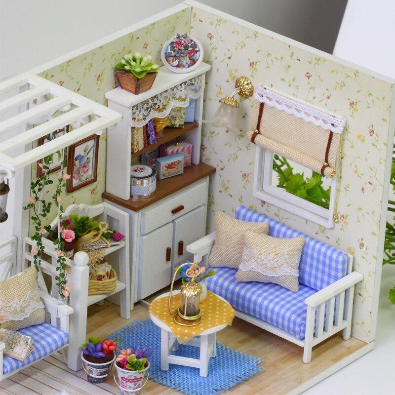 Handmade Miniature Maison de Poupées Accessoire Toile Style Photo déserte Beach