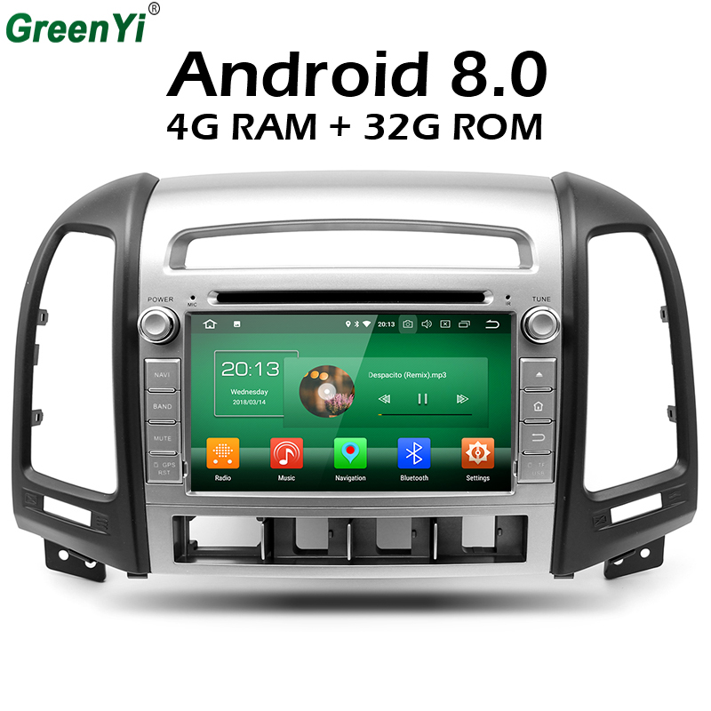 Android 8.0 Octa Core 4GB RAM Car Radio DVD GPS Fit Hyundai Santa Fe 2006 2007 2008 2009 2010 2011 2012 GPS Multimedia Playe android 8 0 octa core car radio dvd player gps multimedia for opel vauxhall antara corsa d 2006 2007 2008 2009 2010 2011 vivaro