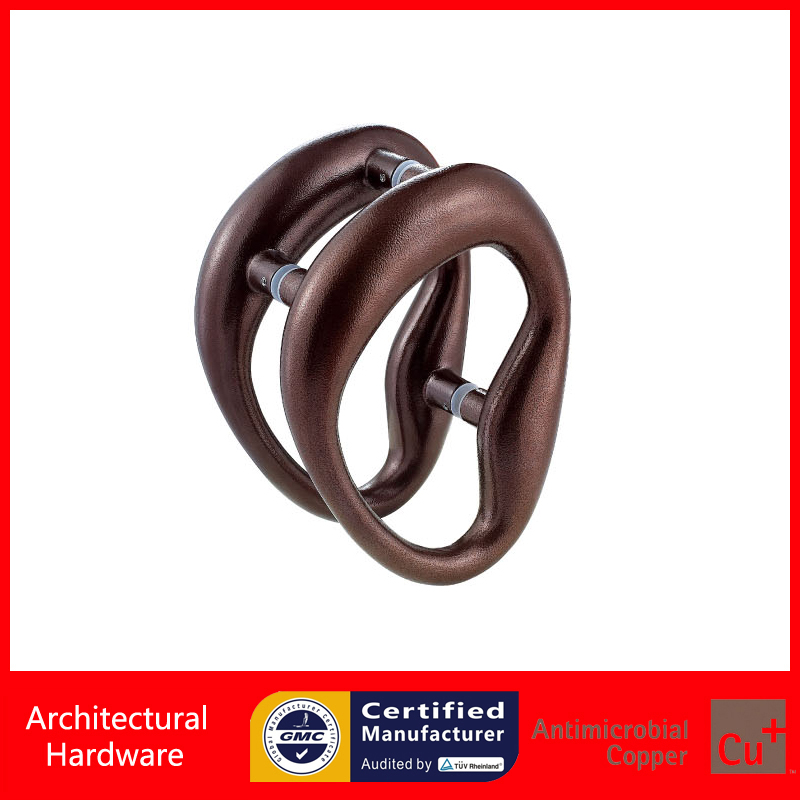 Luxurious Entrance Door Handle High Quality Panda Eye Style Pull Handles PA-774-L330*250-Chocolate For Glass/Wooden/Metal Doors entrance door handle black peach wood bronze pull handles pa 255 38 1000mm for wooden glass metal doors