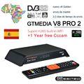 GTMedia V8 Gtmedia V8 pro2 H.265 Full HD DVB-S2 DVB-T2 спутниковый ресивер встроенный WiFi лучше  чем freesat v8 golde