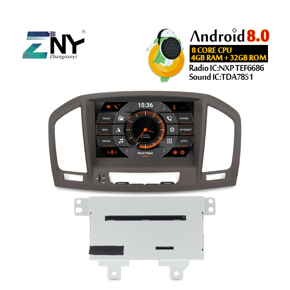 "8"" Auto Radio Android 8.0 For Opel Vauxhall Insignia CD300 CD400 2009 2010  2011 2012"