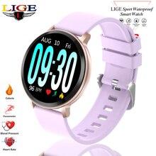 цена LIGE Smart Women Watches  Men Sport Fitness Bracelet Blood Pressure Heart Rate Monitoring Pedometer Smart Watch Women fit bit онлайн в 2017 году