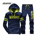 Jolintsai Sporting Suit Tracksuit Men/Women 2017 Plus Size XXXXL Hoodies&Sweatershirts Set Sweat Homme Sudaderas Hombre Pullover