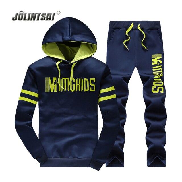 Jolintsai Sporting Suit Tracksuit Men/Women 2017 Plus Size XXXXL Hoodies&Sweatershirts Set Sweat Homme Sudaderas Hombre Pullover