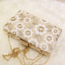 Elegant Fashion Clutch Evening Bags Lace Flower Dinner Wedding Bridal Party Hand Bag Female Luxury Purse for Women