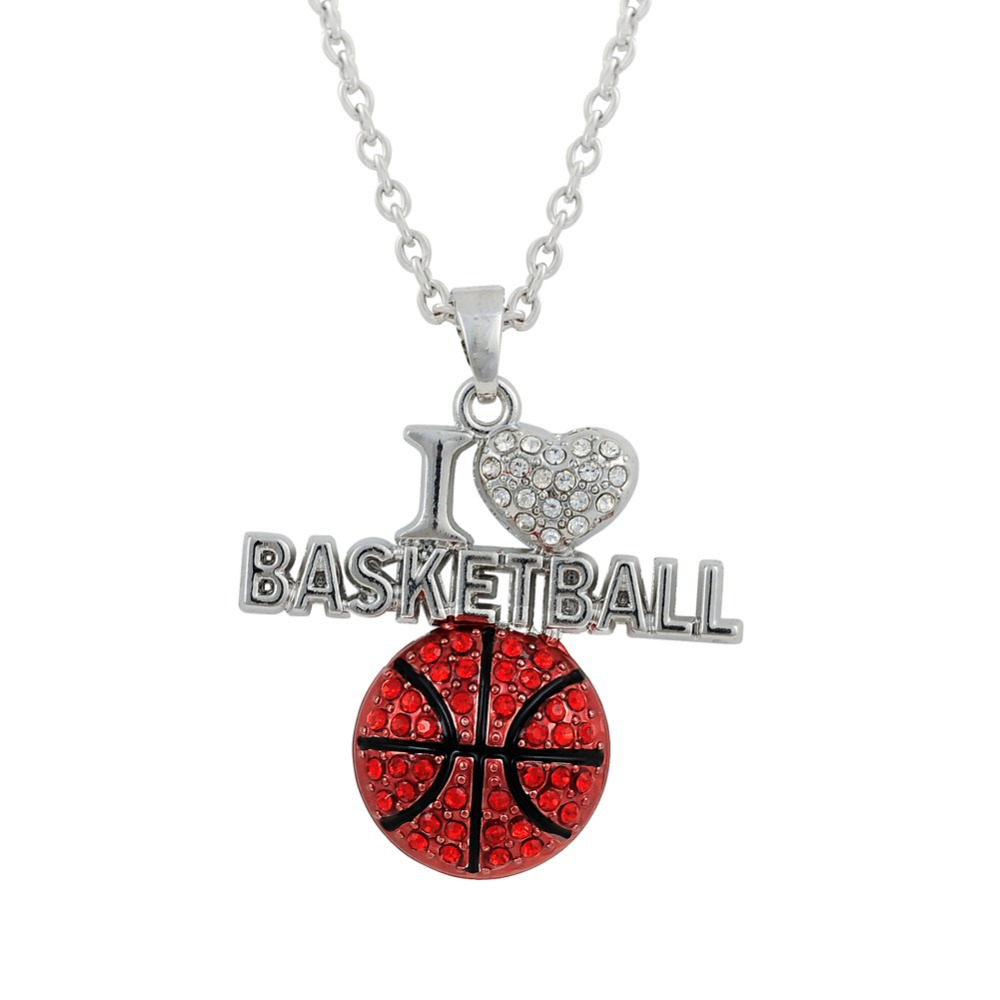 Haeqis fashion alloy i love basketball pendant necklaces rhinestone haeqis fashion alloy i love basketball pendant necklaces rhinestone sporty unisex necklace fn042 in pendant necklaces from jewelry accessories on mozeypictures Images
