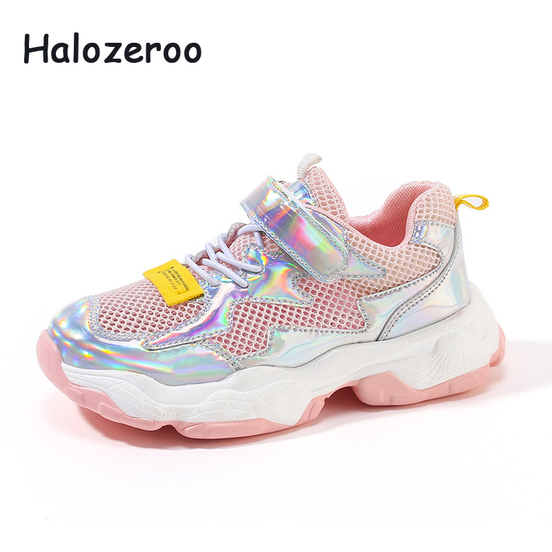 New 2019 Autumn Kids Mesh Shoes Children Pink Sport Sneakers Baby Girls Casual Sneakers Boys Fashion Sneakers Soft Brand Trainer|Sneakers| |  - title=