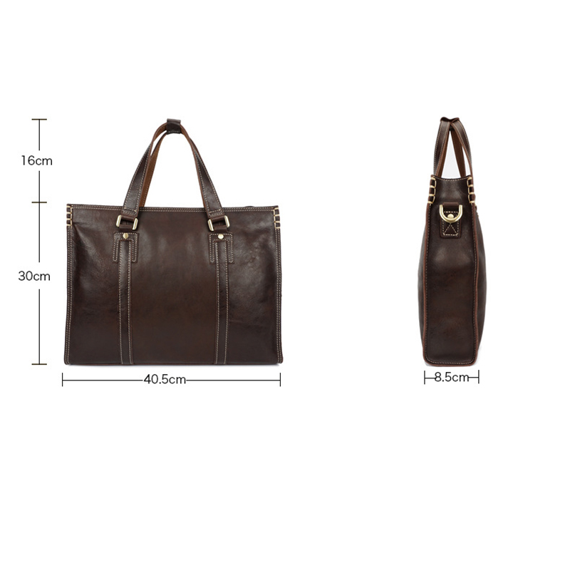 WEIXIER 2019 Solid Color Genuine Leather Large Capacity High Quality Business People Soft Men 39 s Exquisite Classic Design Handbag in Top Handle Bags from Luggage amp Bags