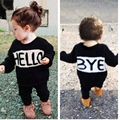 Boys and girls cotton sweater baby letter casual  knitted sweater pullover spring  Bottom Shirt Children's Clothing