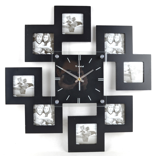 Fashion Art Wall Clocks Mute Rustic Photo Frame Clock Pocket Luxury Home  Decoration Watch EMS Free