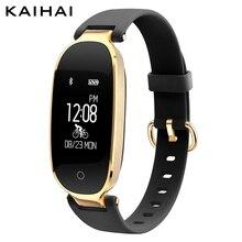 KAIHAI H68 famale font b smart b font font b Wristband b font Heart Rate Monitor