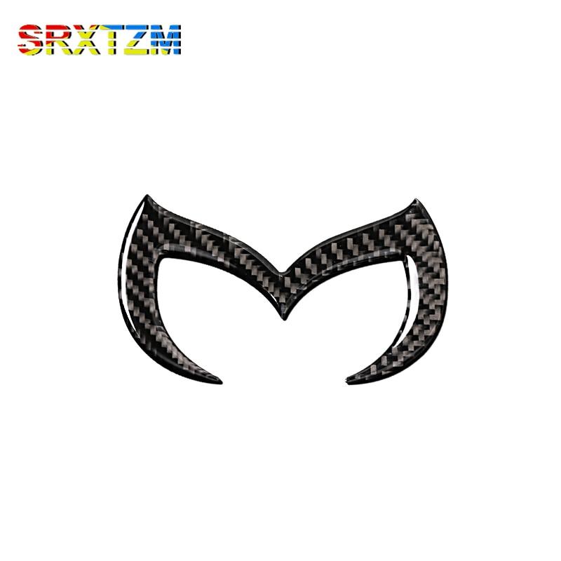 SRXTZM Carbon Fiber Emblem 3D Sticker Logo Decals Car