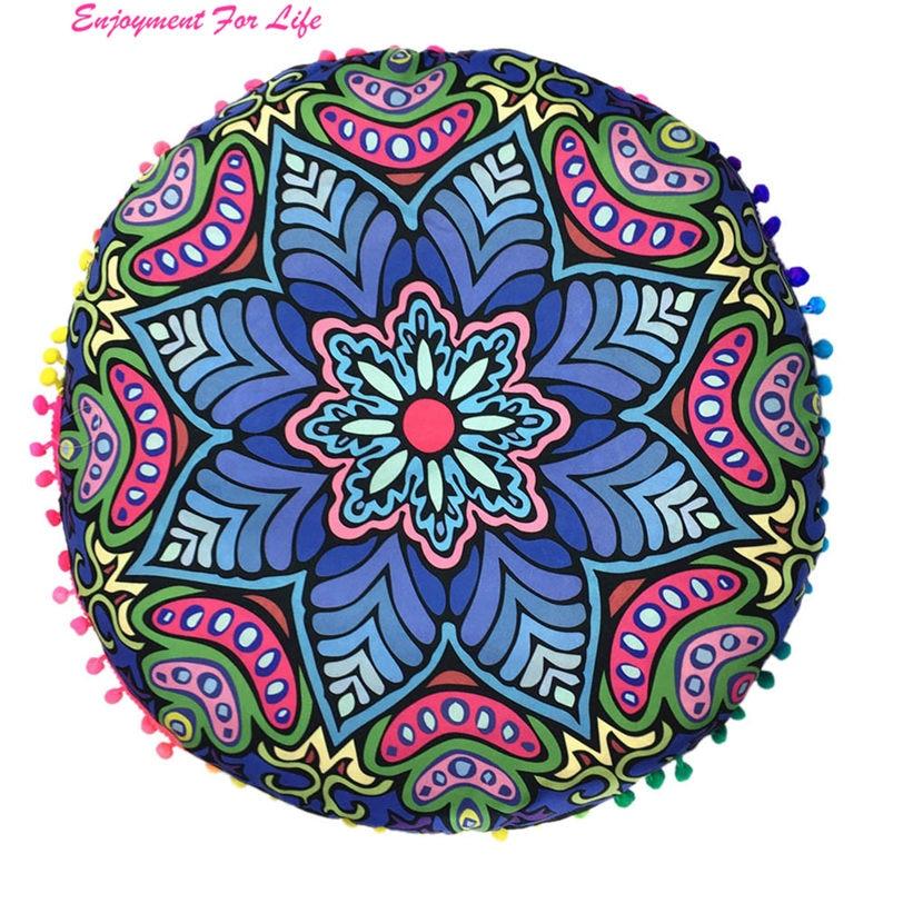 Indian Large Mandala Floor Pillows Wholesale High Quality Hot Round Bohemian Cushion Cushions Cover Free Shipping Dec 19